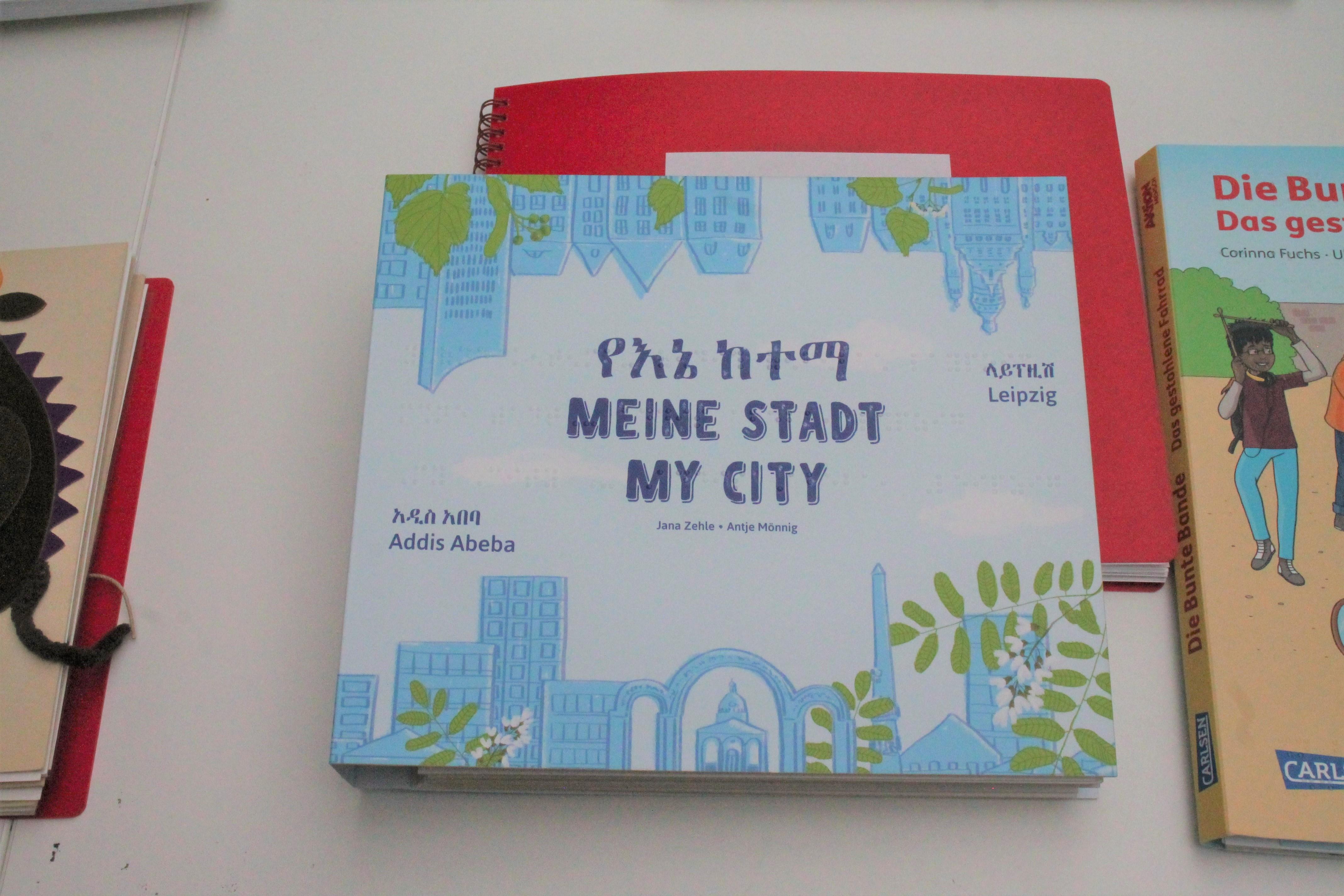 Taktiles Kinderbuch Meine Stadt Addis Abeba und Leipzig
