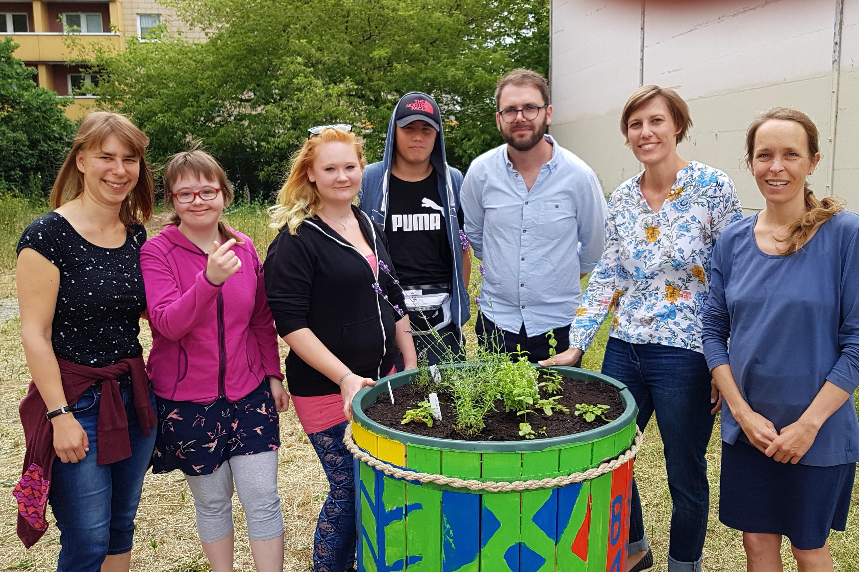 The inclusive school garden is inaugurated in Leipzig